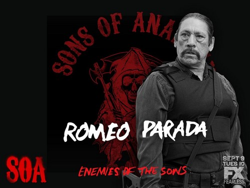 Sons Of Anarchy wallpaper titled Enemies of the Sons: Romeo Parada
