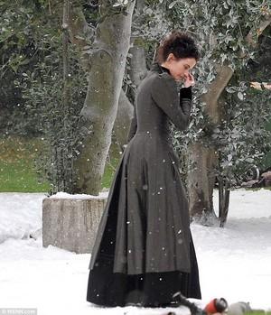 Eva Green filming S.2