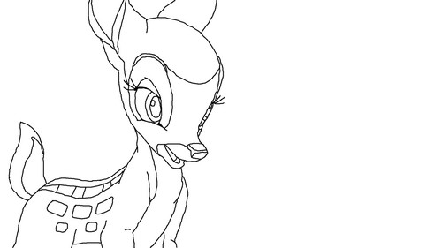Bambi wallpaper possibly containing a japanese ameixa entitled Faline LineArt