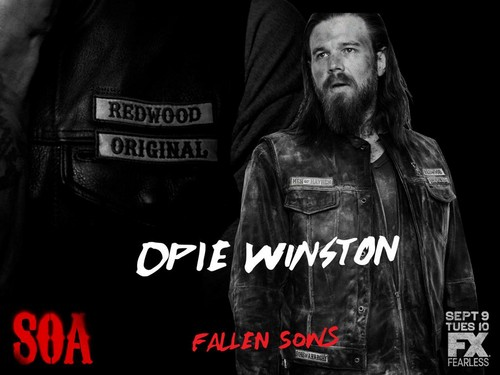 Sons Of Anarchy wallpaper possibly with a sign called Fallen Sons: Opie