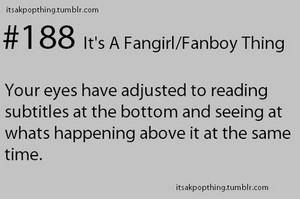 Fangirl/Fanboy thing