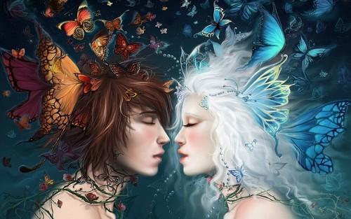 Fantasy achtergrond titled Fantasy