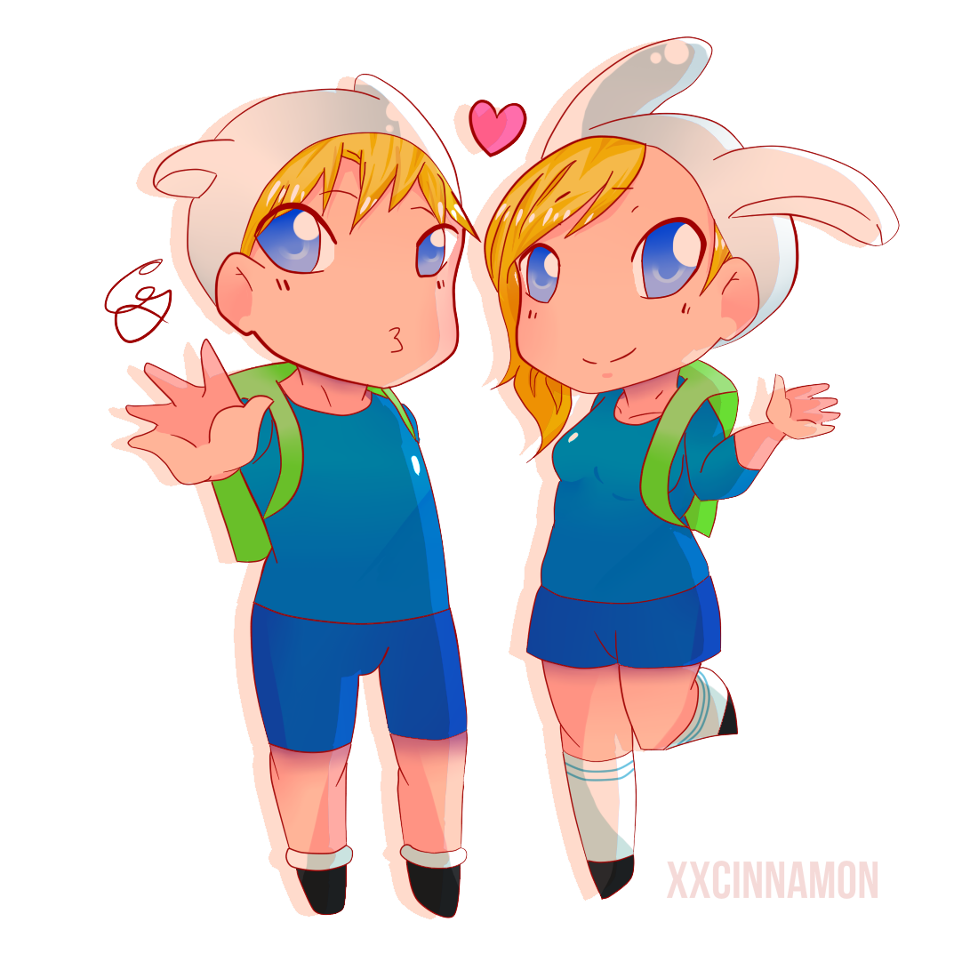 Fionna and Finn by glooptastic on DeviantArt