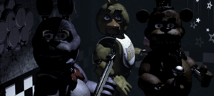 Five Nights At Freddy's (The animaux staring at the camera)