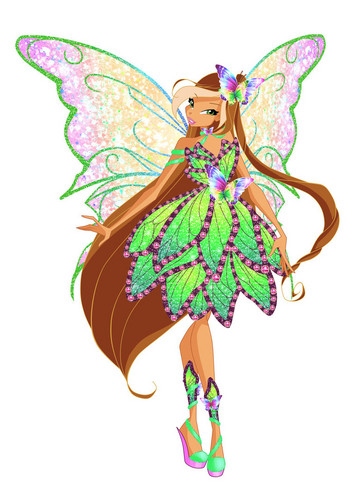 the winx club wallpaper entitled Flora Butterflyix