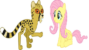 Fluttershy With CheetahGirl 2