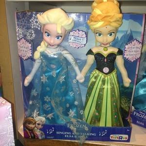 Холодное сердце Пение and talking Anna and Elsa plush