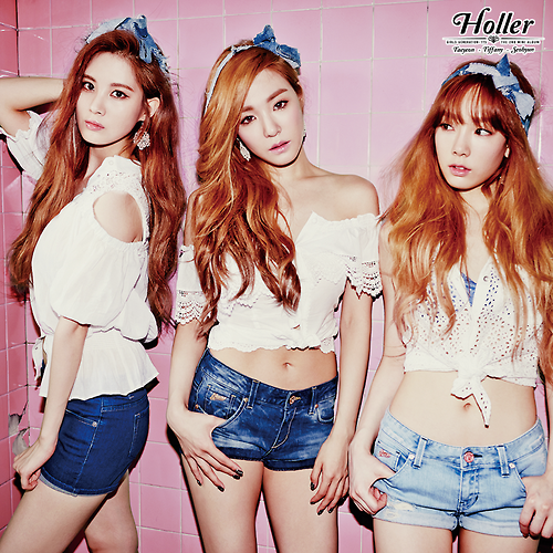"Girl's Generation/SNSD karatasi la kupamba ukuta with a portrait entitled GIRLS' GENERATION - TTS ""할라/Holler"""