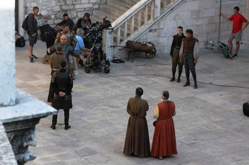 Game of Thrones wallpaper possibly containing a street and a bannister called Game of Thrones - Season 5 -  Sibenik