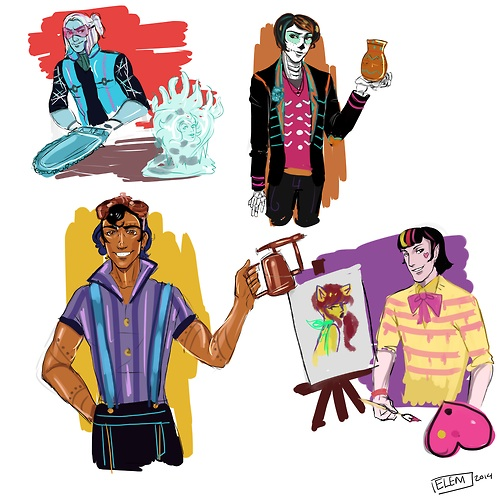 Gender Swaped: Abbey, Skelita, Robecca, Draculaura