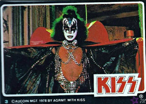 Gene Simmons ~KISS trading cards 1978