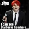 My Chemical Romance photo possibly containing a business suit and a judge advocate titled Gerard Loves Coffee
