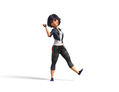 GoGo Tomago kertas dinding possibly containing tights and a leotard entitled GoGo Tomago