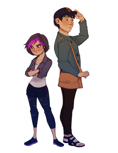 Big Hero 6 Hintergrund containing hosiery, bare legs, and tights titled GoGo and Tadashi