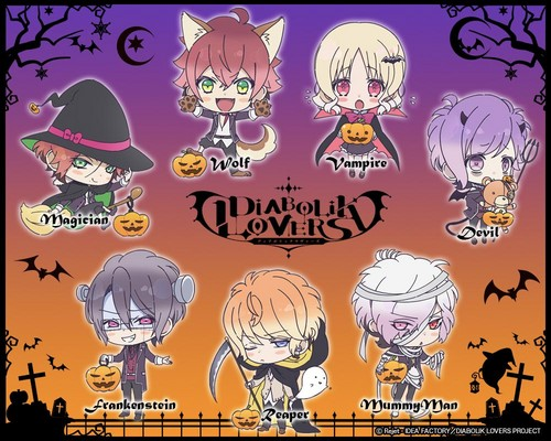 Diabolik Kekasih kertas dinding probably containing Anime entitled Halloween Costumes