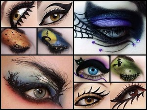 Dia das bruxas Eye Makeup