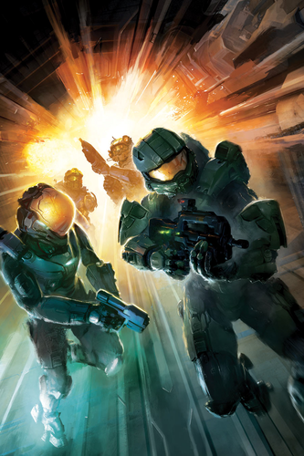 Halo wallpaper probably containing a rifleman titled Halo Escalation