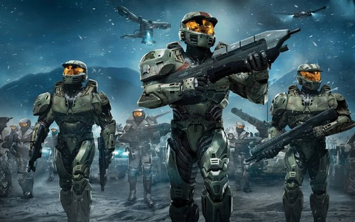 Halo wallpaper with a rifleman titled Halo Wars Red Team