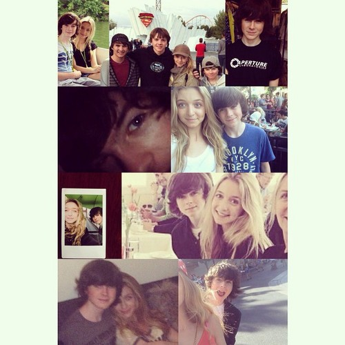 Chandler Riggs Hintergrund probably with a newspaper and a portrait entitled Hana's Instagram post for their 6 months ♥