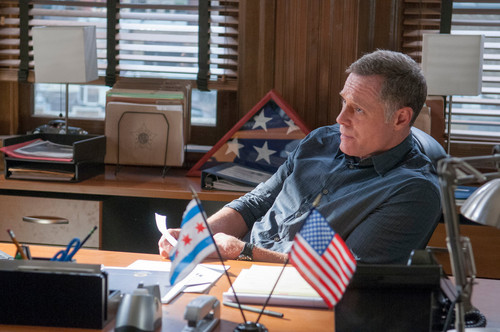 TV Male Characters wallpaper containing a living room and a escrivaninha, mesa titled Hank Voight
