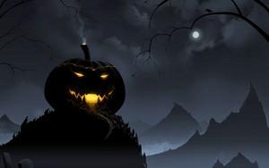 Happy Halloween pompoen House