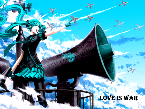 hatsune miku wallpaper entitled Hatsune Miku - amor Is War
