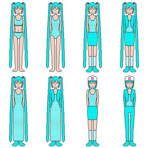 Hatsune Miku kertas dinding titled Hatsune Miku (Pixel art)