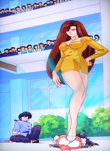 anime achtergrond possibly containing a leotard, a swimsuit, and tights entitled Miss Hinako - Ranma 1/2