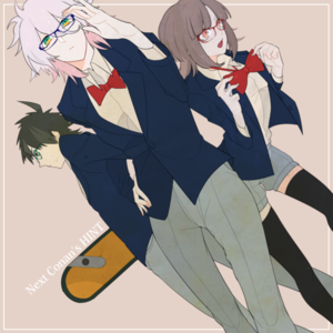 Hinata, Komaeda, and Nanami