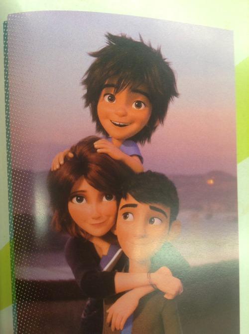 Hiro, Cass and Tadashi Hamada