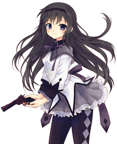 Mahou Shoujo Madoka Magica achtergrond titled Homura~chan