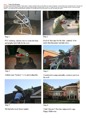 How to make your own T-Rex Rooftopper