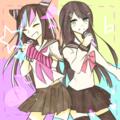 Ibuki Mioda and Sayaka Maizono