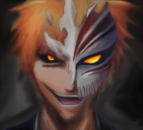 Bleach Anime kertas dinding titled Ichigo Hollow