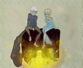 Jack Frost and Queen Elsa - elsa-and-jack-frost photo