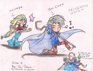 Jack Frost and reyna Elsa