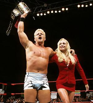 Jeff Jarrett & Debra in the ring