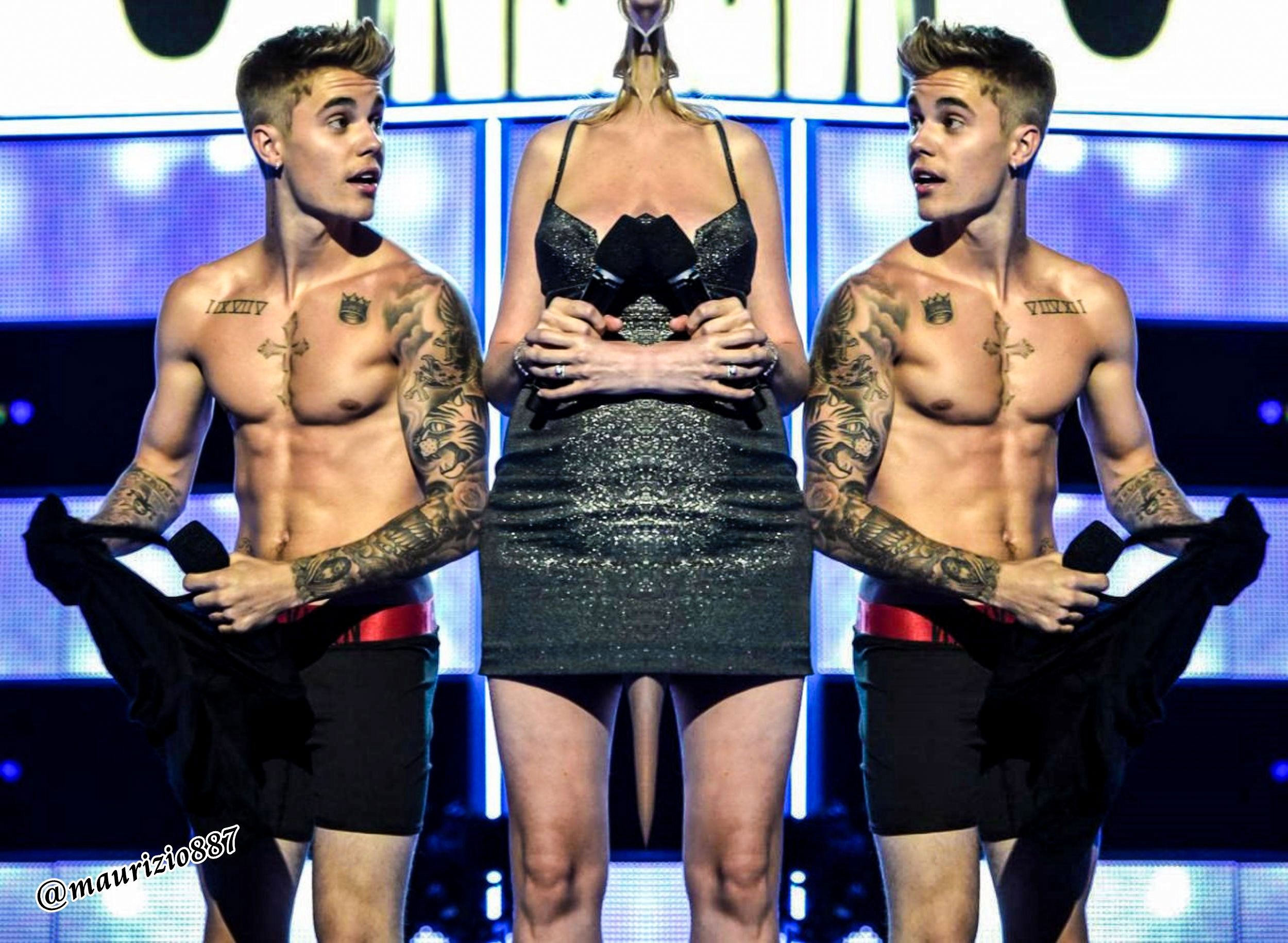Justin Bieber ,strips Fashion Rocks, 2014 - Justin Bieber ...