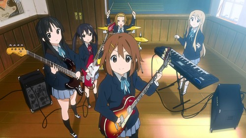 animê music! wallpaper with a guitarist and a show, concerto entitled K-ON ( Just joined here)