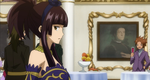 "fairy tail wallpaper probably containing a drawing room titled Kagura Mikazuchi | ""The Grand Ball"""