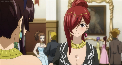 "Fairy Tail wallpaper entitled Kagura and Erza | ""The Grand Ball"""