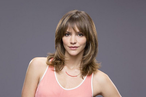 Scorpion (CBS) wallpaper probably containing attractiveness, a leotard, and a bustier entitled Katharine McPhee as Paige Dineen