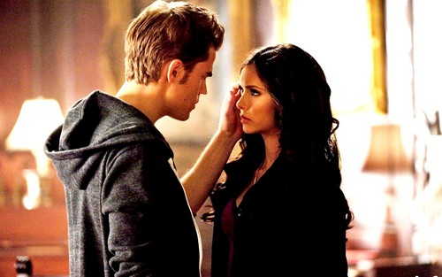 Katherine Pierce Hintergrund probably with a well dressed person, an outerwear, and a portrait entitled Katherine Pierce