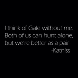 Katniss frases about Gale