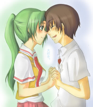 Keiichi and Mion