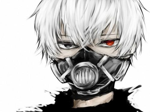 Tokyo Ghoul karatasi la kupamba ukuta containing a gasmask entitled Ken