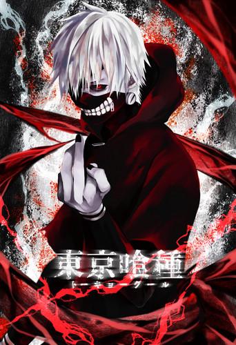 Tokyo Ghoul karatasi la kupamba ukuta probably containing a sign entitled Ken