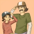 Kenny and Clem TWD - video-games photo