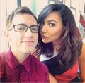 Kevin and Naya Glee set