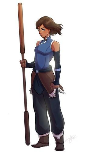 Avatar, La Légende de Korra fond d'écran entitled Korra (SW)